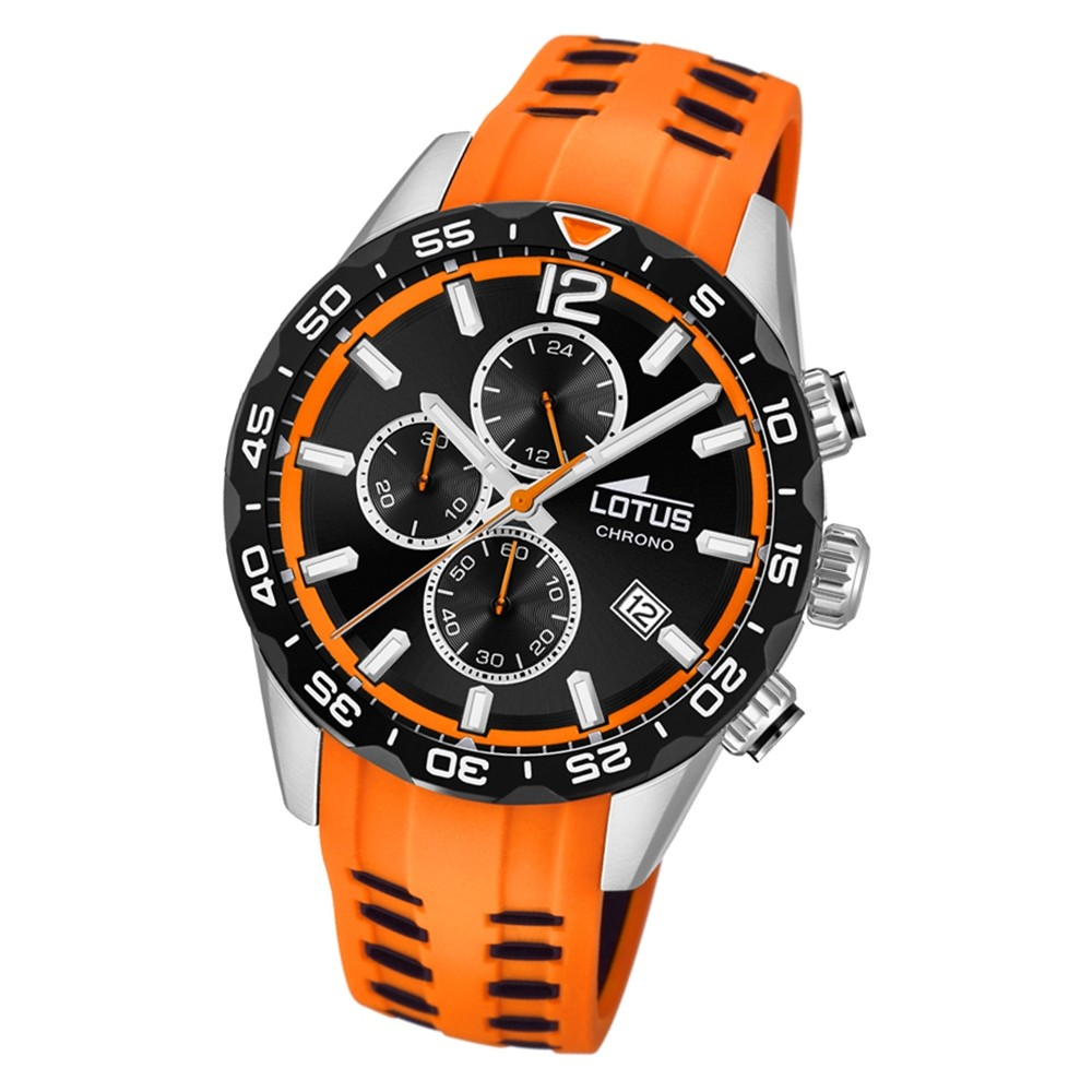 LOTUS Herren Armbanduhr Lotus R 18590/1 Quarz PU orange UL18590/1