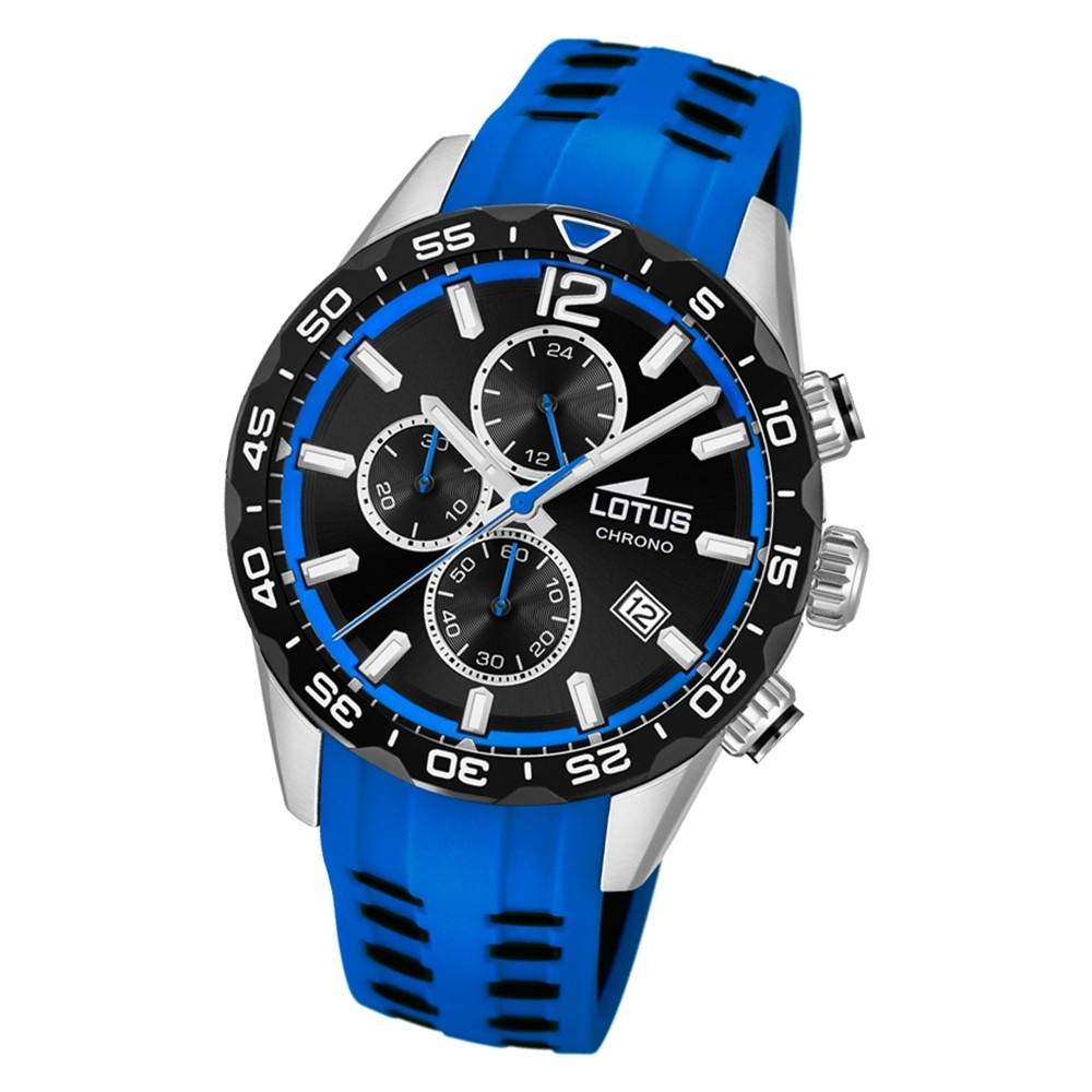 LOTUS Herren Armbanduhr Lotus R 18590/2 Quarz PU blau UL18590/2