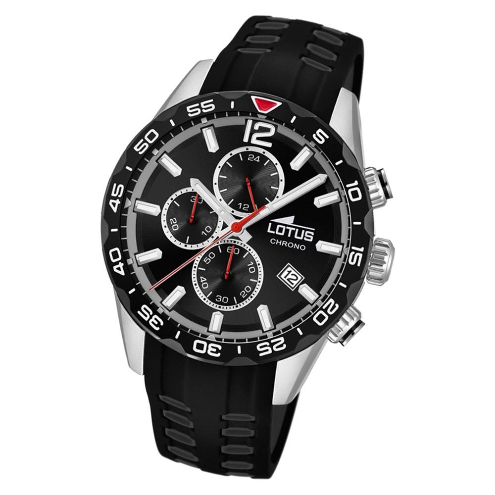 LOTUS Herren Armbanduhr Lotus R 18590/4 Quarz PU schwarz UL18590/4