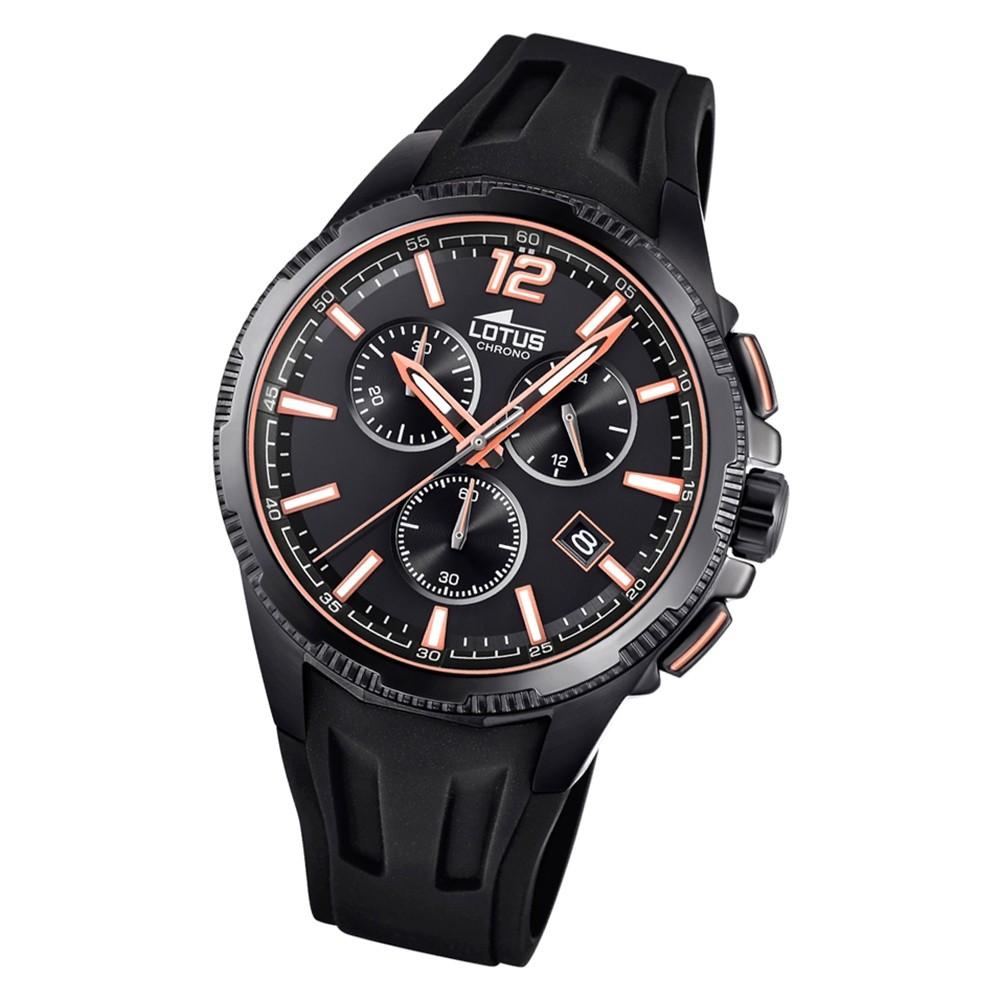 LOTUS Herren Armbanduhr Lotus R 18591/1 Quarz PU schwarz UL18591/1