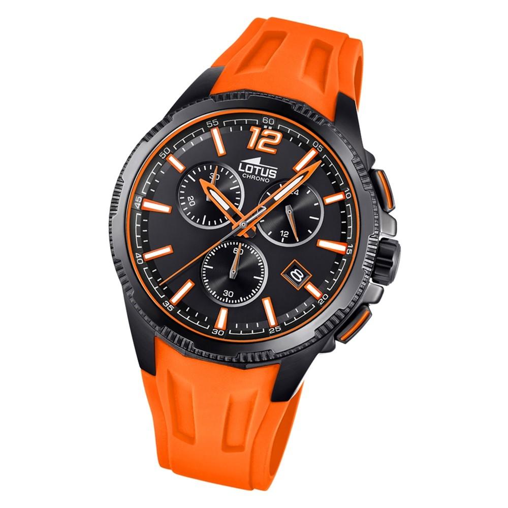 LOTUS Herren Armbanduhr Lotus R 18591/6 Quarz PU orange UL18591/6