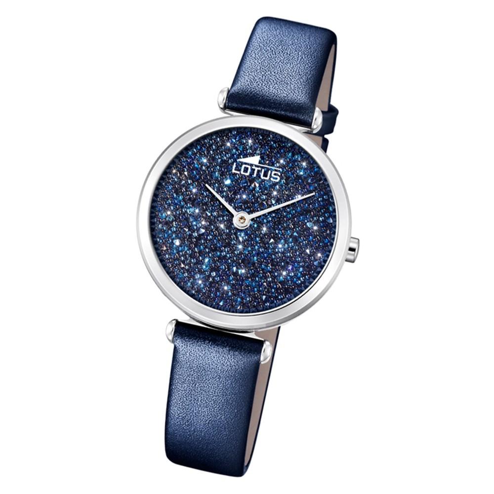LOTUS Damen Armbanduhr Bliss 18607/2 Quarz Leder blau UL18607/2