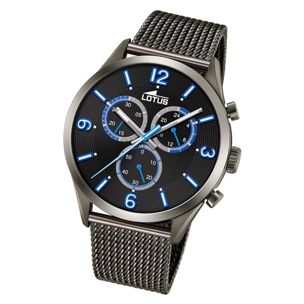 LOTUS Herren Armbanduhr Minimalist 18650/1 Quarz Edelstahl schwarz UL18650/1