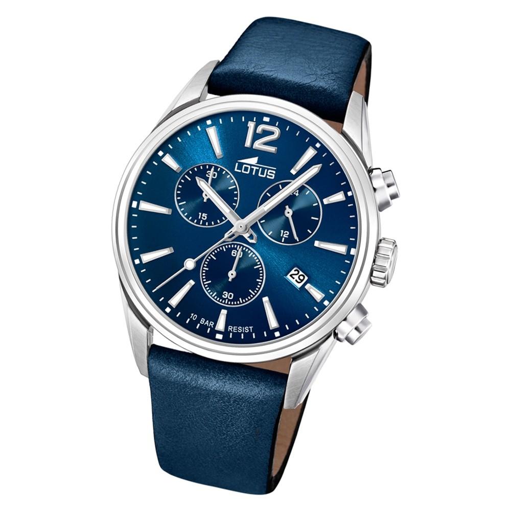 LOTUS Herren Armbanduhr Khrono 18691/1 Quarz Leder blau UL18691/1