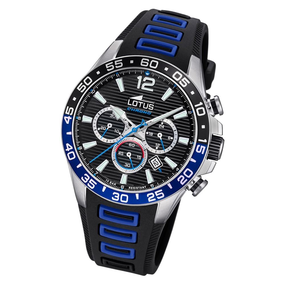 LOTUS Herren Armbanduhr Lotus R 18697/2 Quarz PU schwarz blau UL18697/2