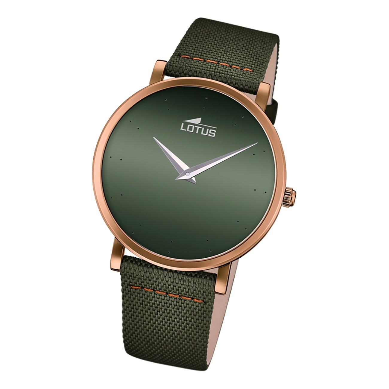 Lotus Herren Armbanduhr Minimalist 18782/2 Analog Leder grün UL18782/2