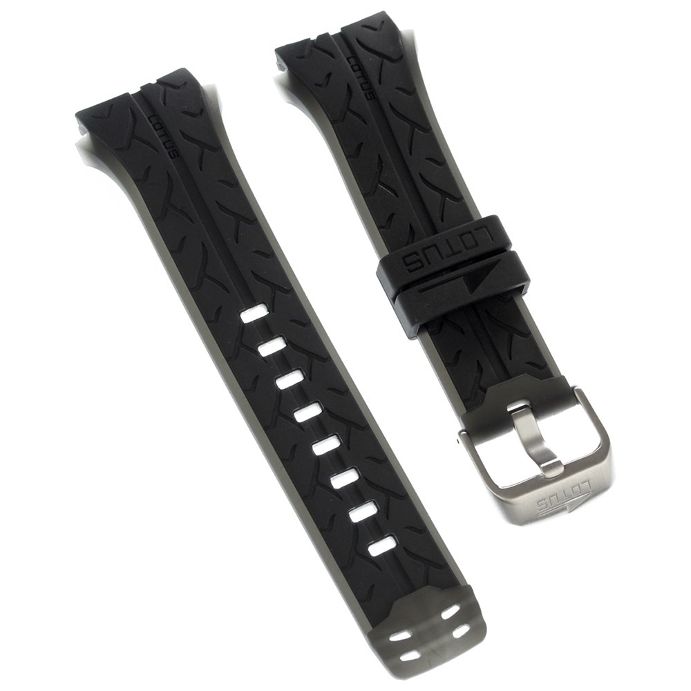 Lotus Herren Uhrenarmband 24mm PU-Band schwarz für Lotus L15423 L15422 ULA15423/S