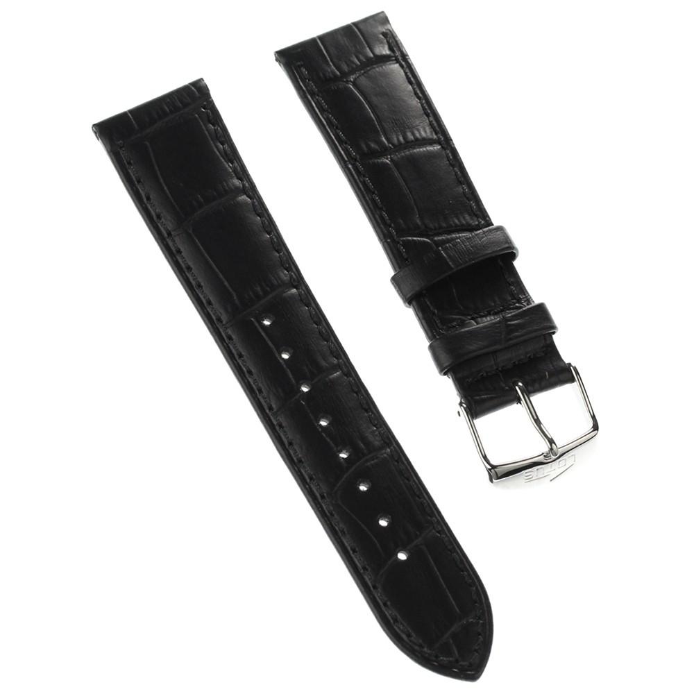 Lotus Herren Uhrenarmband 22mm Leder-Band schwarz für Lotus L15956 L15961 L15955 ULA15956/S