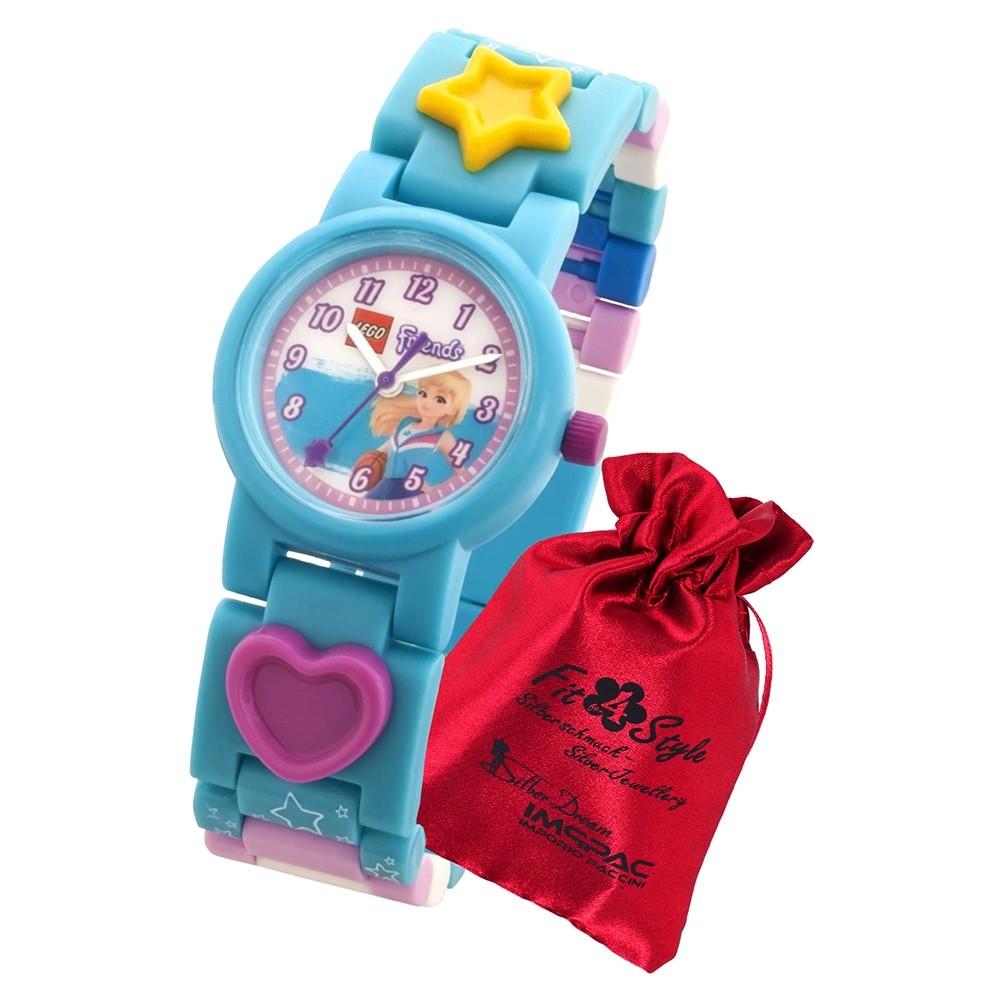 LEGO Friends Stephanie 8021254 Quarz Kinder-Uhr mit Säckchen ULE8021254