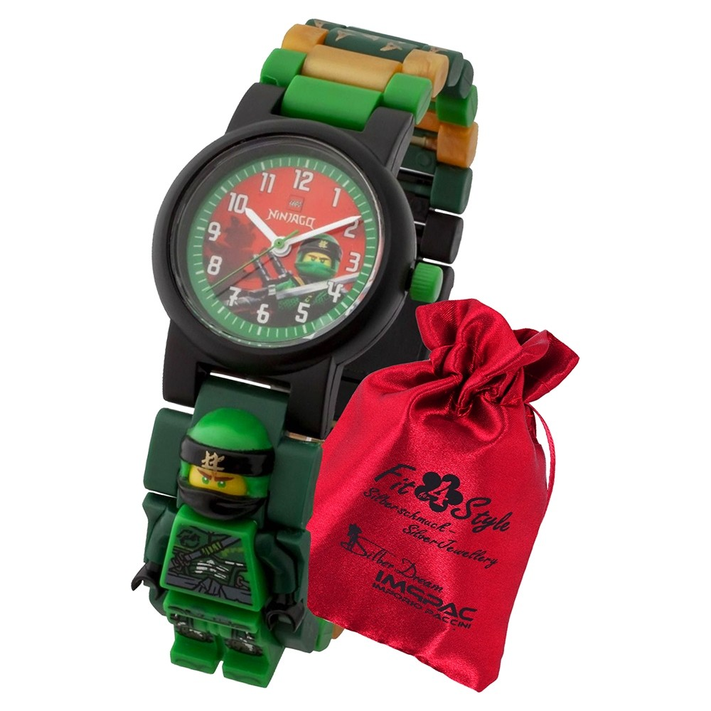 LEGO Ninjago Lloyd 8021421 Quarz Kinder-Uhr mit Säckchen ULE8021421
