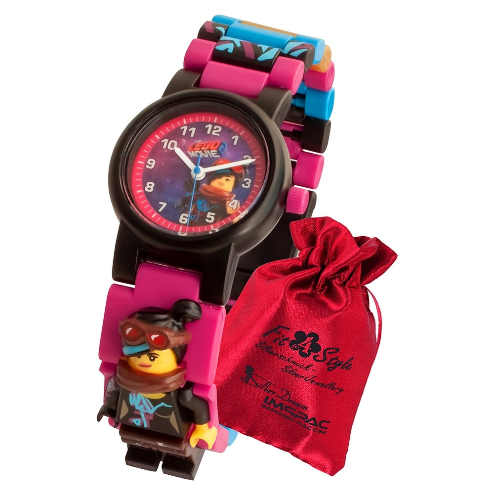 LEGO Movie 2 Wyldstyle 8021452 Quarz Kinder-Uhr mit Säckchen ULE8021452