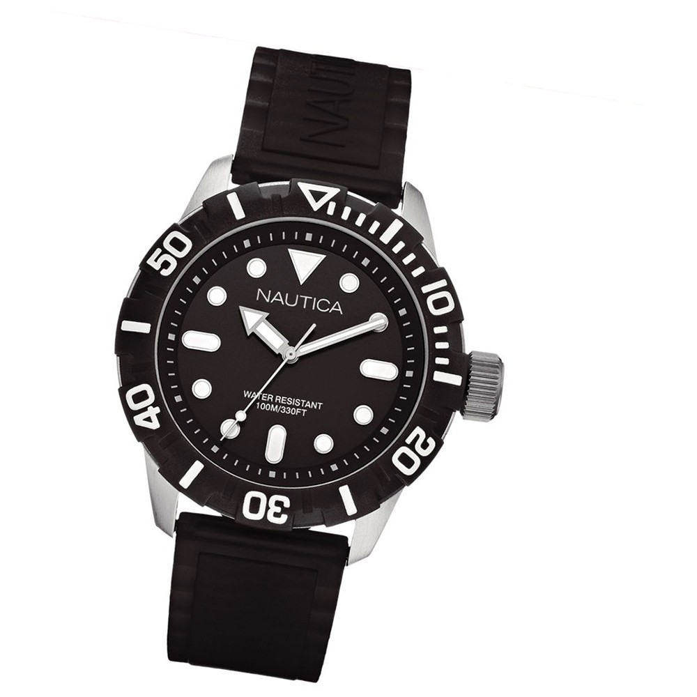 NAUTICA Unisex Uhr schwarz A Sea of Color NSR 100 Black UNA09600G