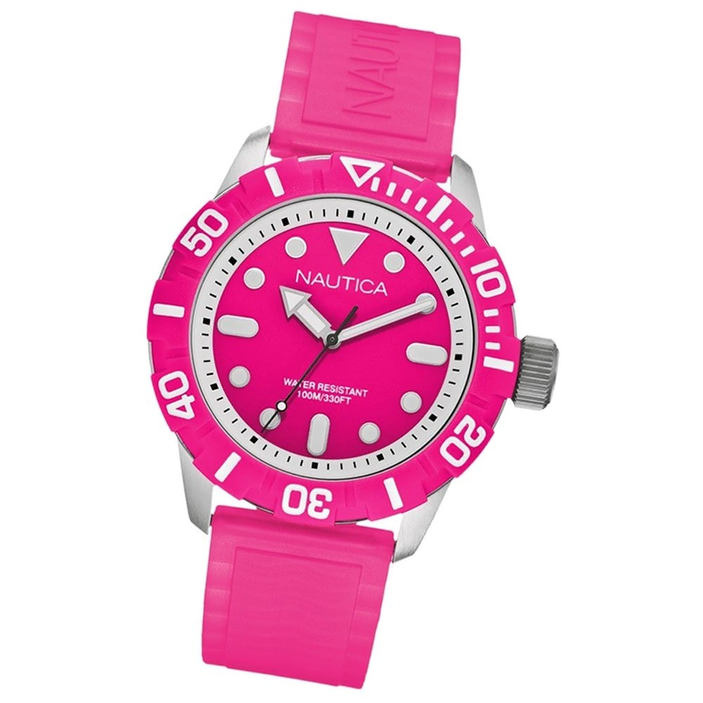 NAUTICA Unisex Armbanduhr pink A Sea of Color NSR 100 Pink UNA09607G