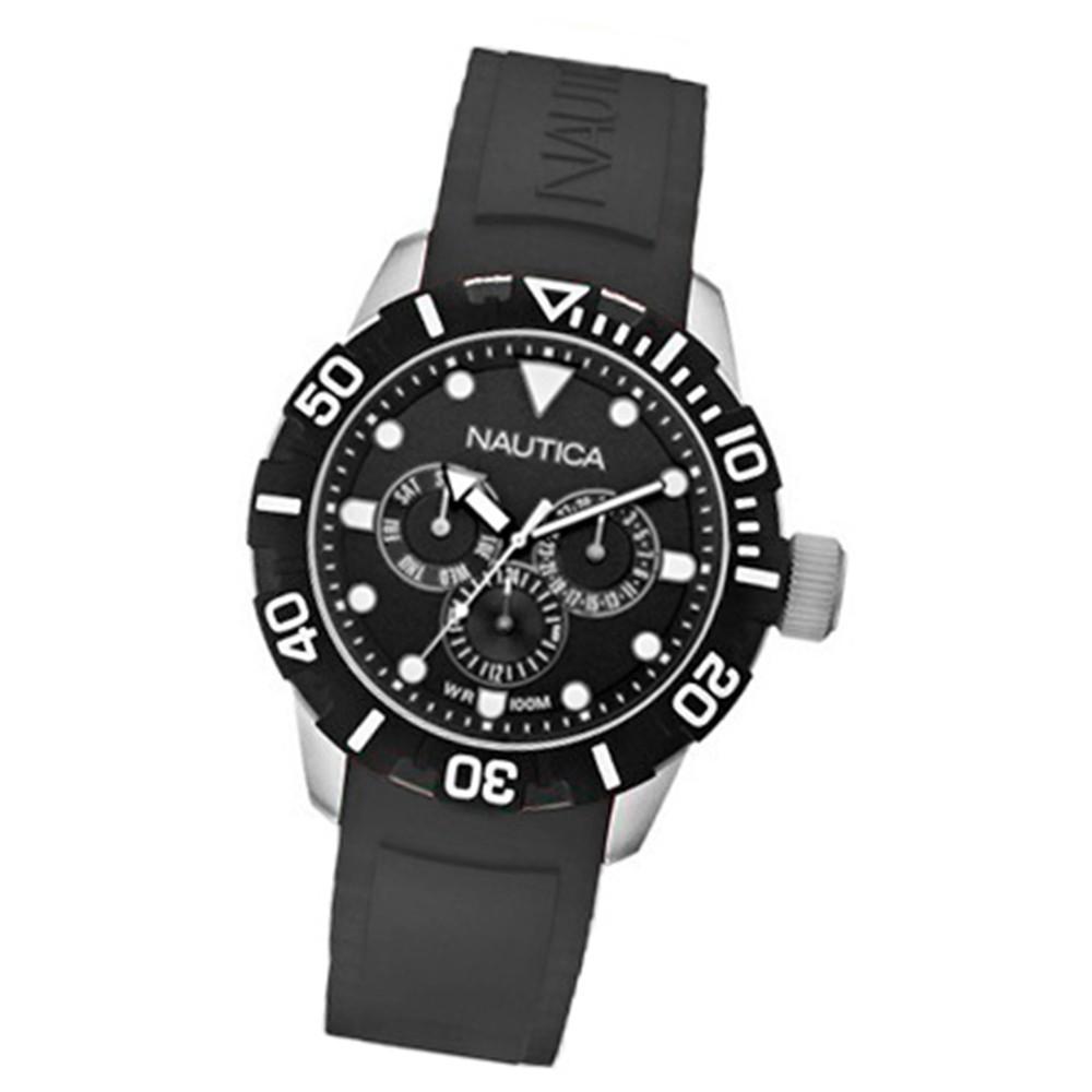 NAUTICA Unisex Uhr Multifunktion schwarz 101NSR black UNA13643G