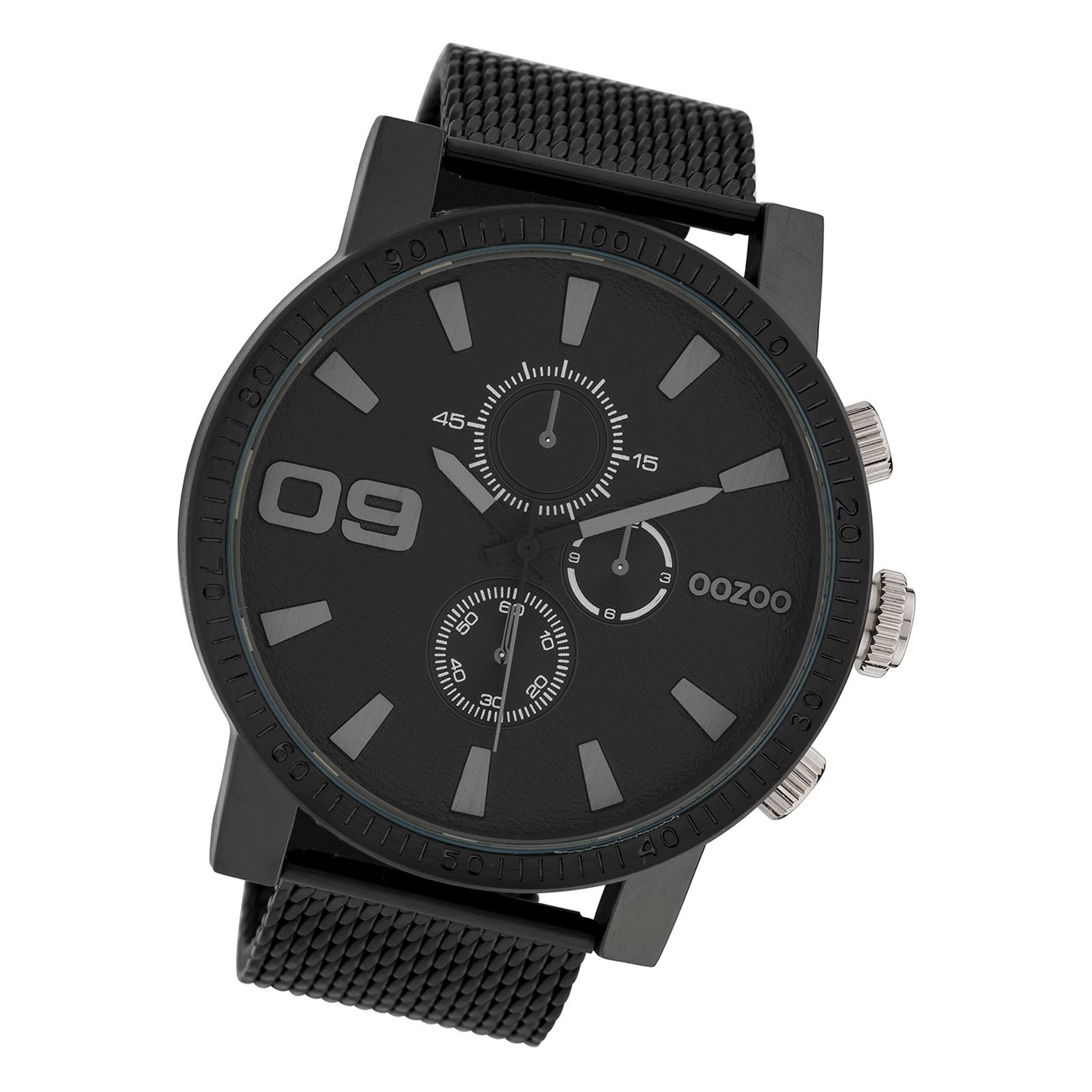 Oozoo Herren Armbanduhr Timepieces C10053 Analog Edelstahl schwarz UOC10053