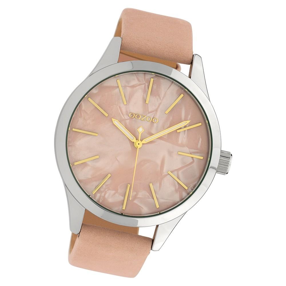 Oozoo Damen Armbanduhr Timepieces C10072 Quarzwerk Leder rosa UOC10072