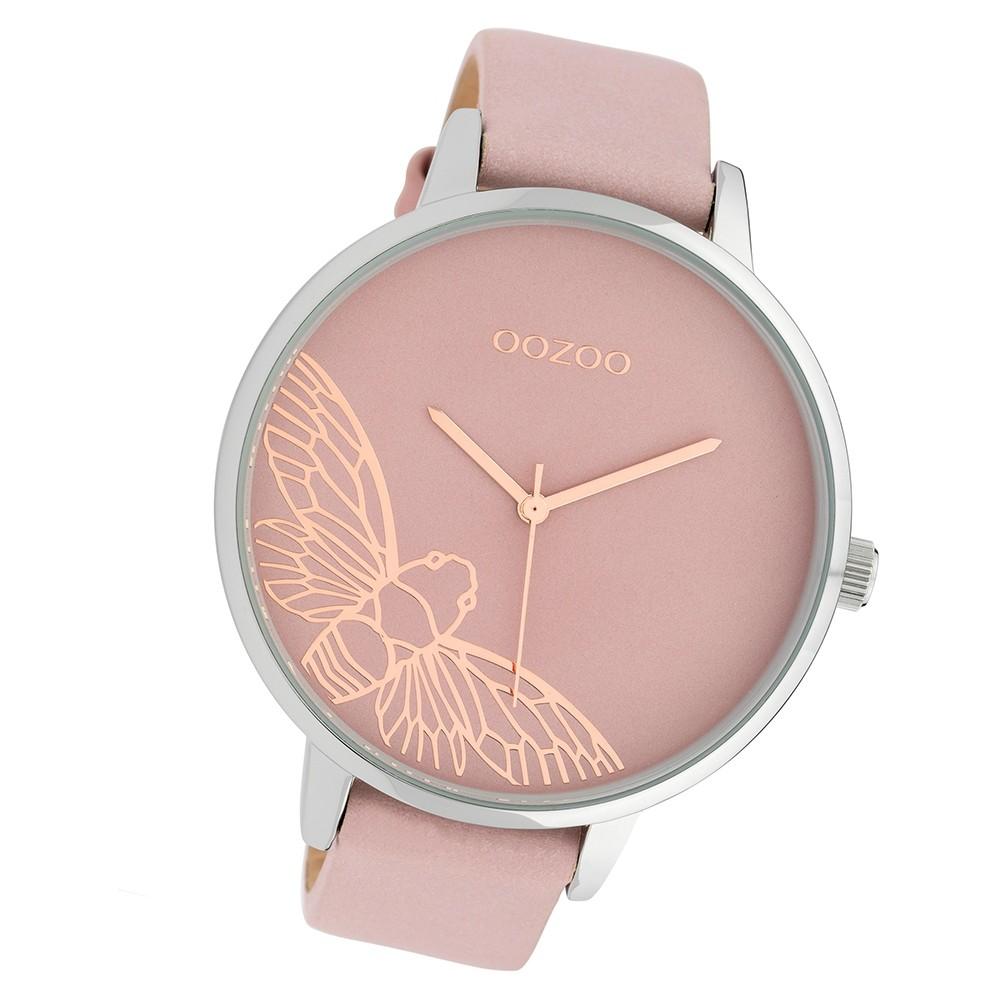 Oozoo Damen Armbanduhr Timepieces C10076 Quarzwerk Leder rosa UOC10076