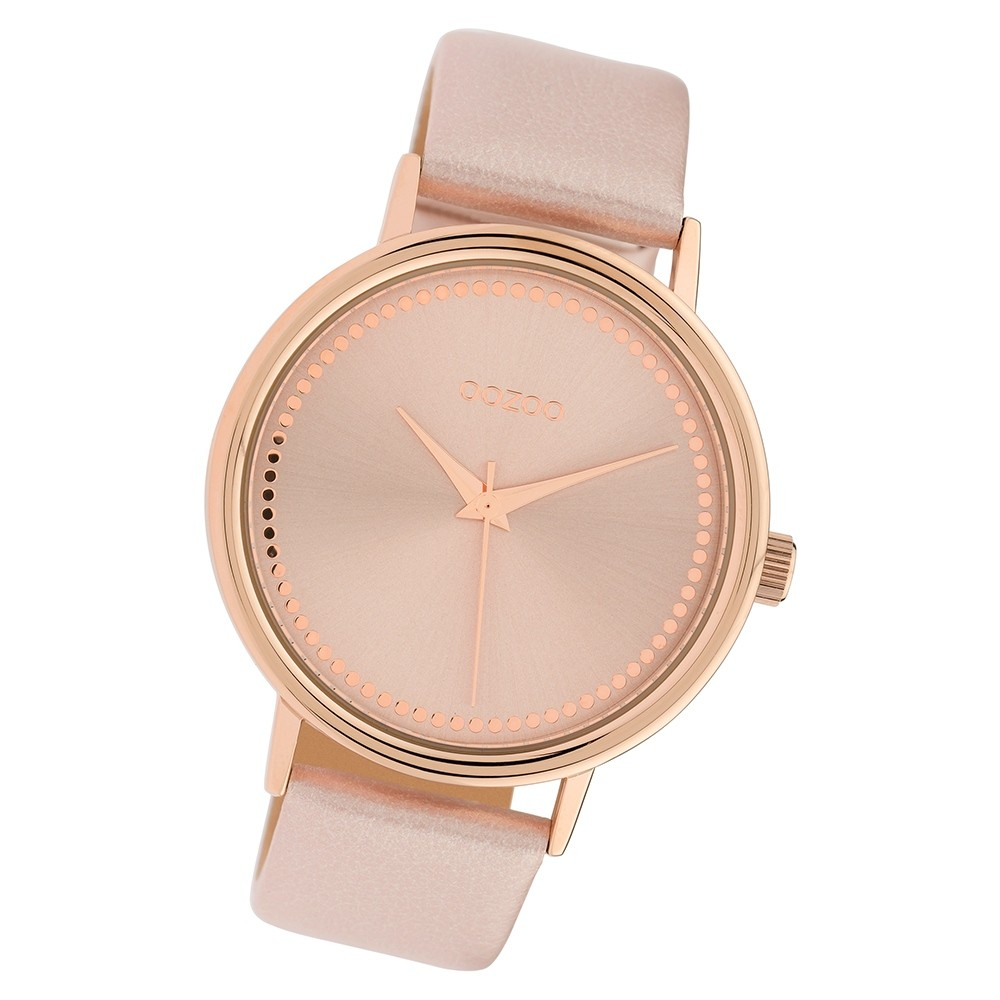 Oozoo Damen Armbanduhr Timepieces C10151 Quarzwerk Leder rosa UOC10151
