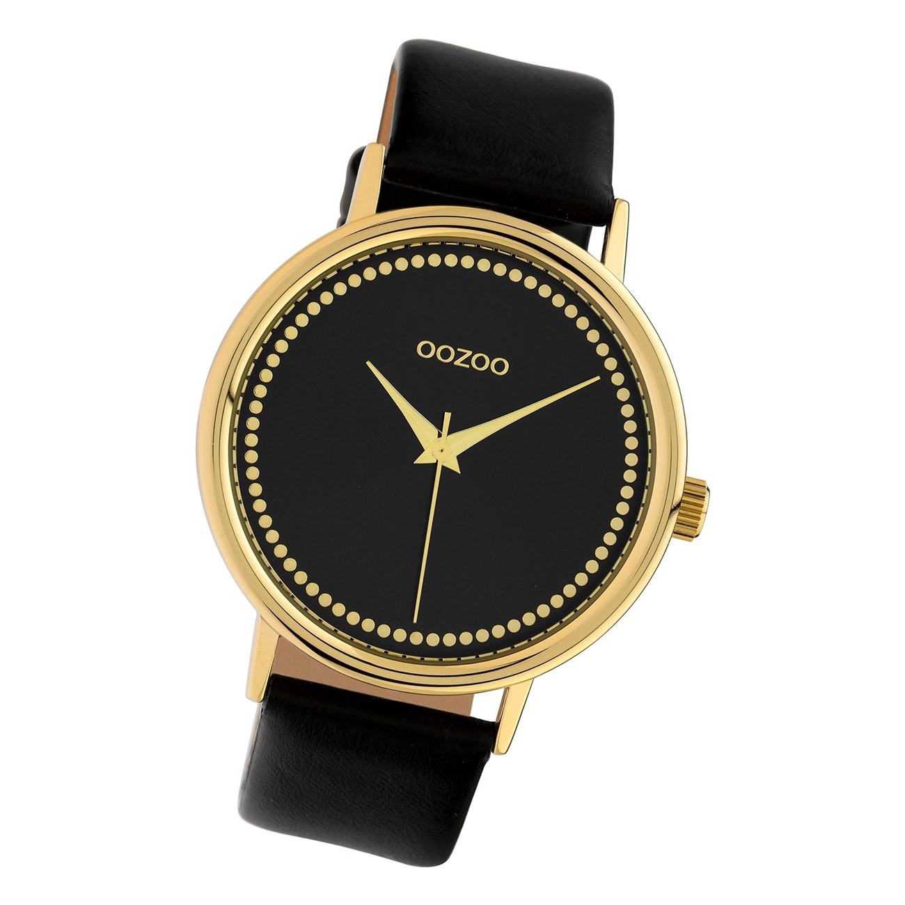 Oozoo Damen Armbanduhr Timepieces C10152 Analog Leder schwarz UOC10152