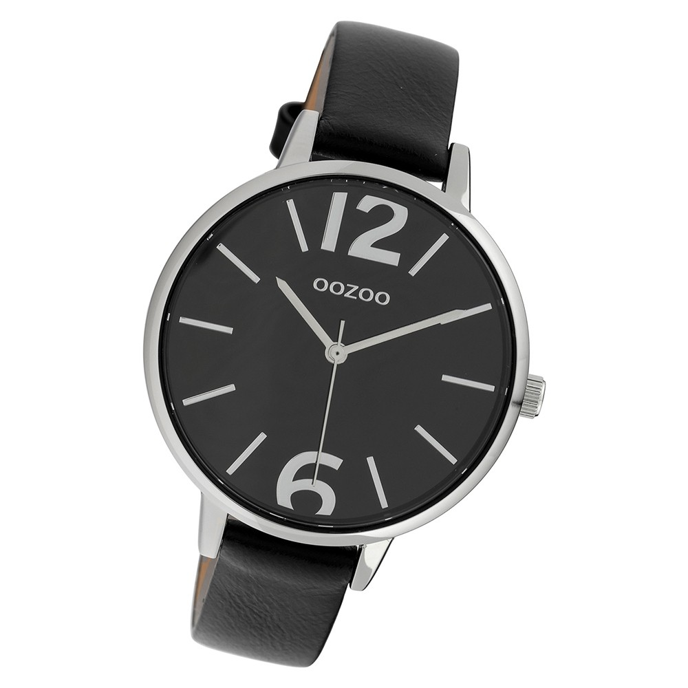 Oozoo Damen Armbanduhr Timepieces C10157 41mm Quarz Leder schwarz UOC10157