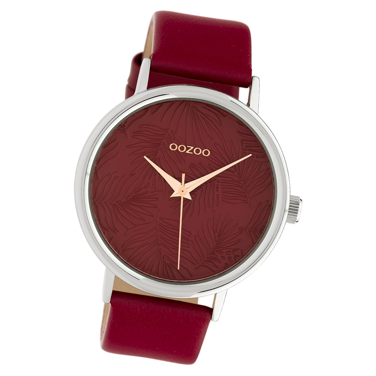 Oozoo Damen Armbanduhr Timepieces C10163 42mm Quarz Leder rot UOC10163