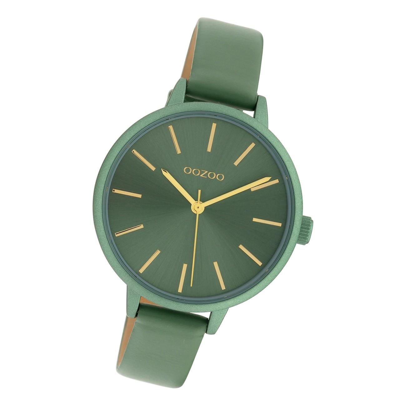 Oozoo Damen Armbanduhr Timepieces C10255 Analog Leder hellgrün UOC10255