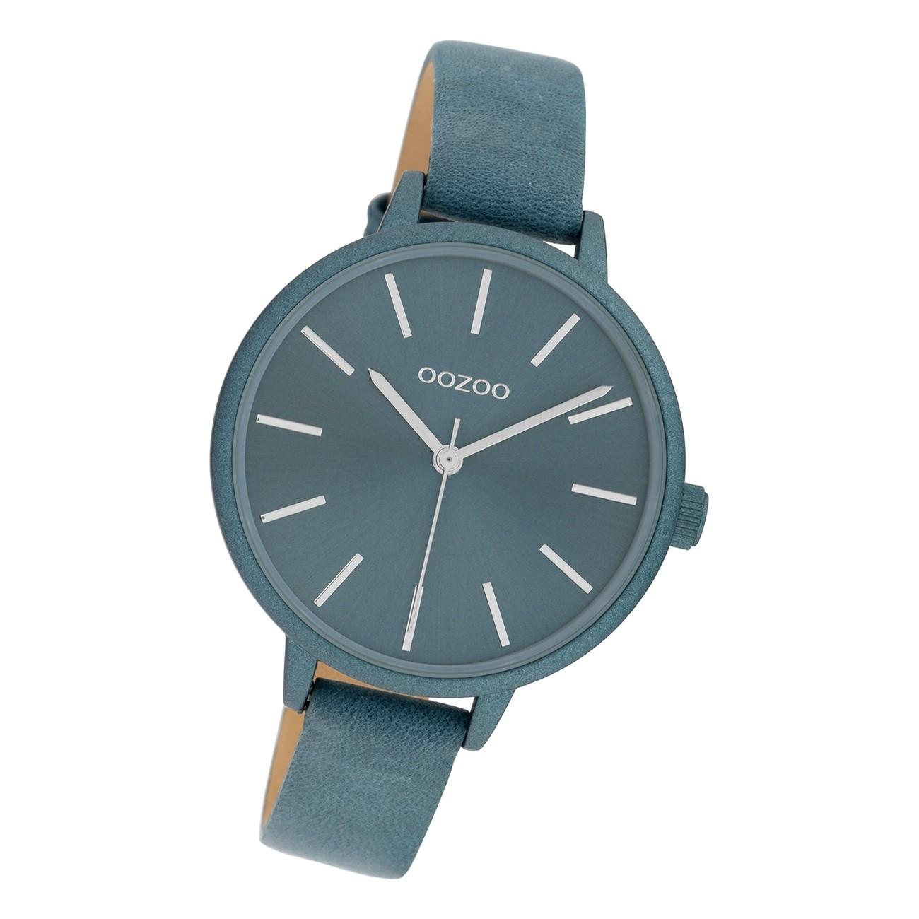 Oozoo Damen Armbanduhr Timepieces C10257 Analog Leder grau UOC10257