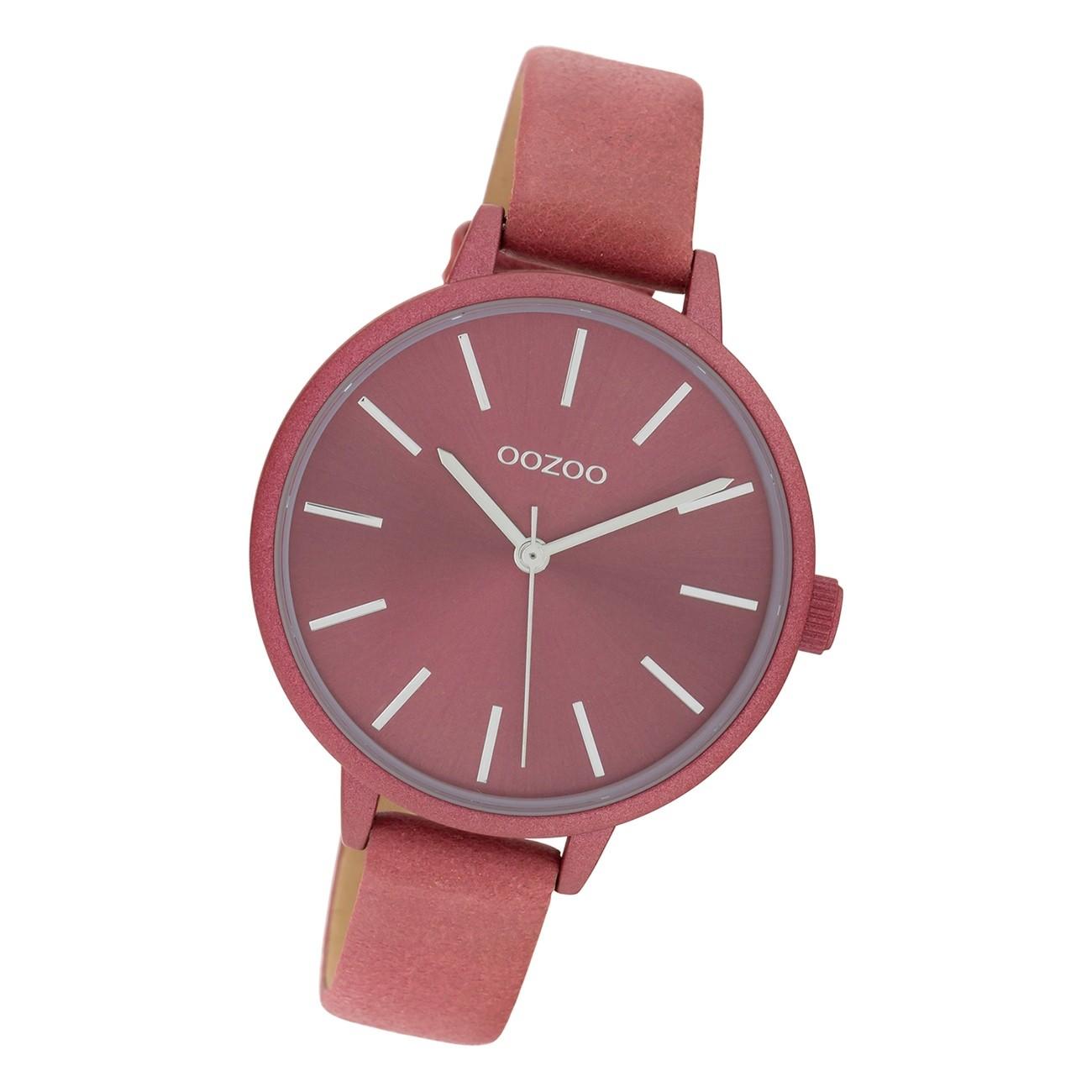 Oozoo Damen Armbanduhr Timepieces C10258 Analog Leder altrosa UOC10258