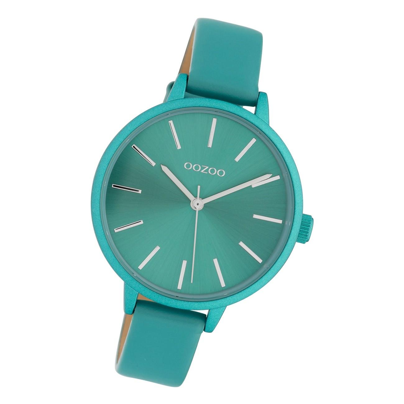 Oozoo Damen Armbanduhr Timepieces C10259 Analog Leder türkis UOC10259