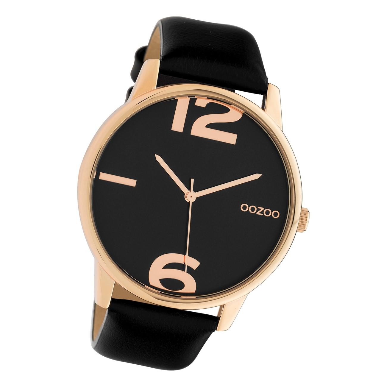 Oozoo Damen Armbanduhr Timepieces C10374 Analog Leder schwarz UOC10374