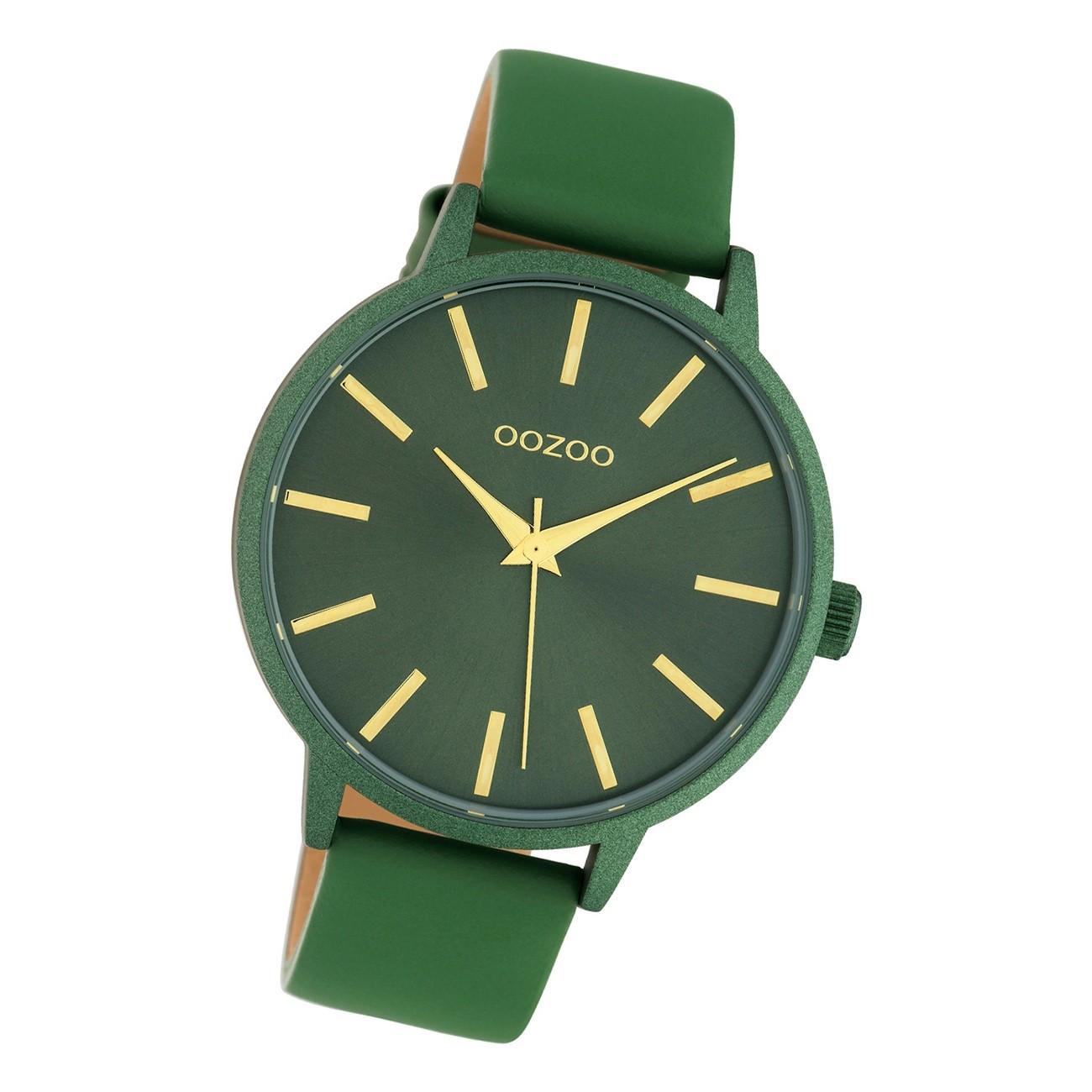 Oozoo Damen Armbanduhr Timepieces C10616 Analog Leder grün UOC10616