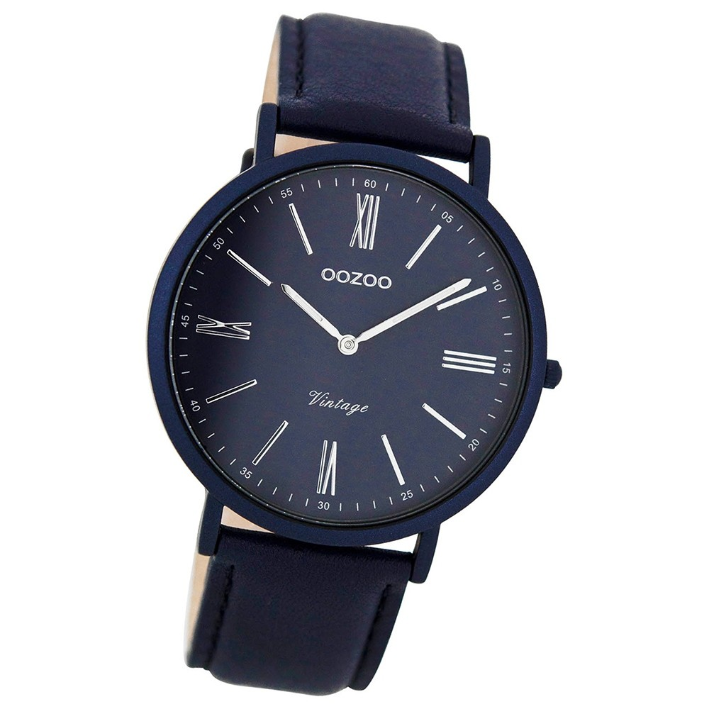 oozoo damen herren uhr ultra slim quarzuhr leder armband. Black Bedroom Furniture Sets. Home Design Ideas