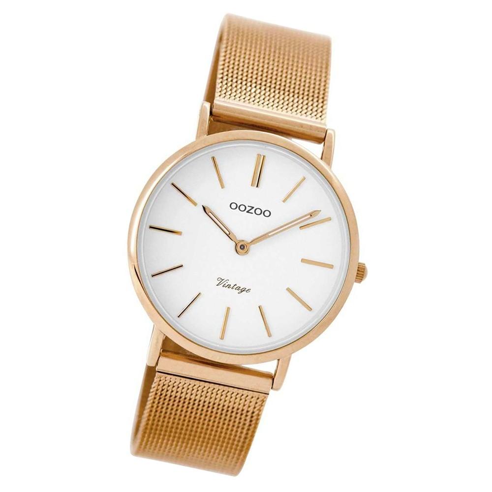 Oozoo Damen Armbanduhr rosegold Ultra Slim C8874 Metallarmband rosegold UOC8874