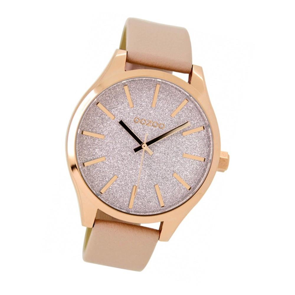Oozoo Damen-Uhr Timepieces Quarzuhr C9121 Leder-Armband rosa UOC9121