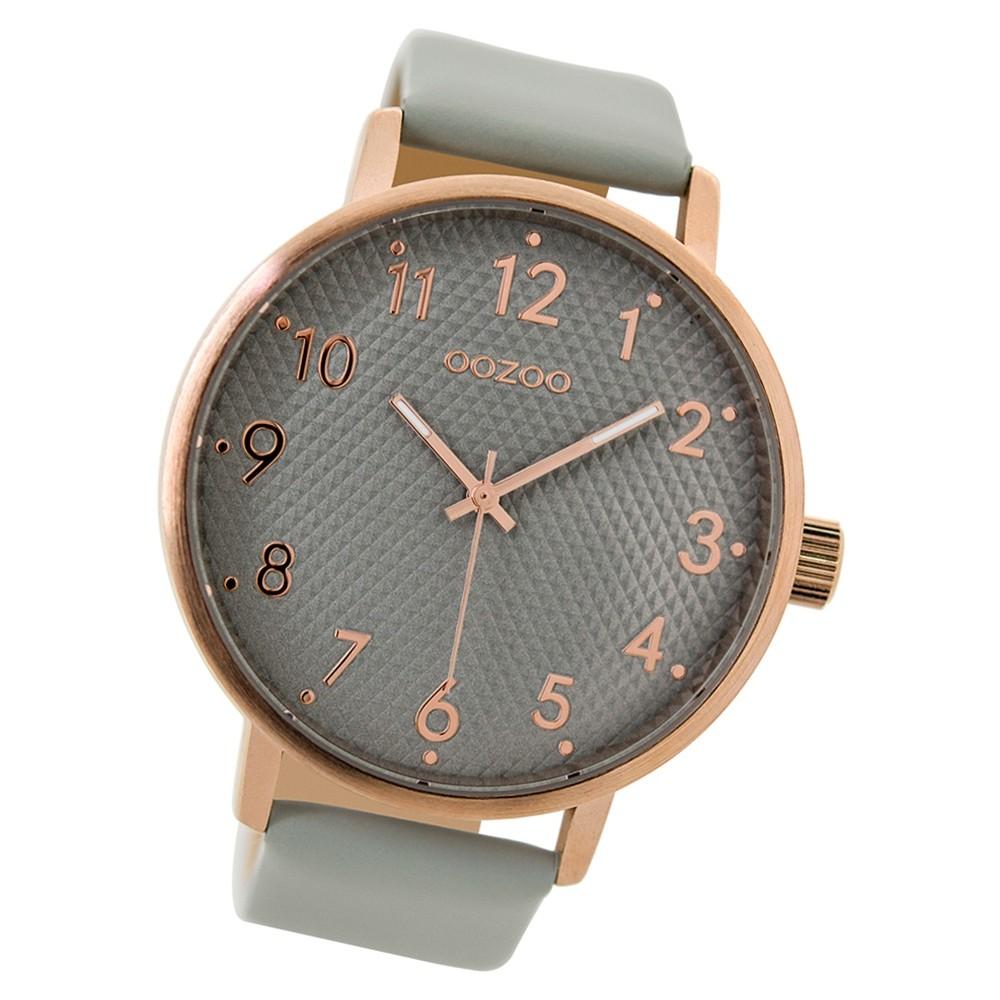 Oozoo Herren Armbanduhr Timepieces C9400 Quarz Leder hellgrau UOC9400
