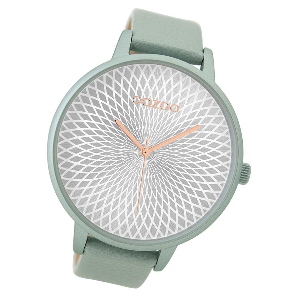 Oozoo Damen Armbanduhr blau grau Timepieces Quarz C9521 Lederarmband UOC9521
