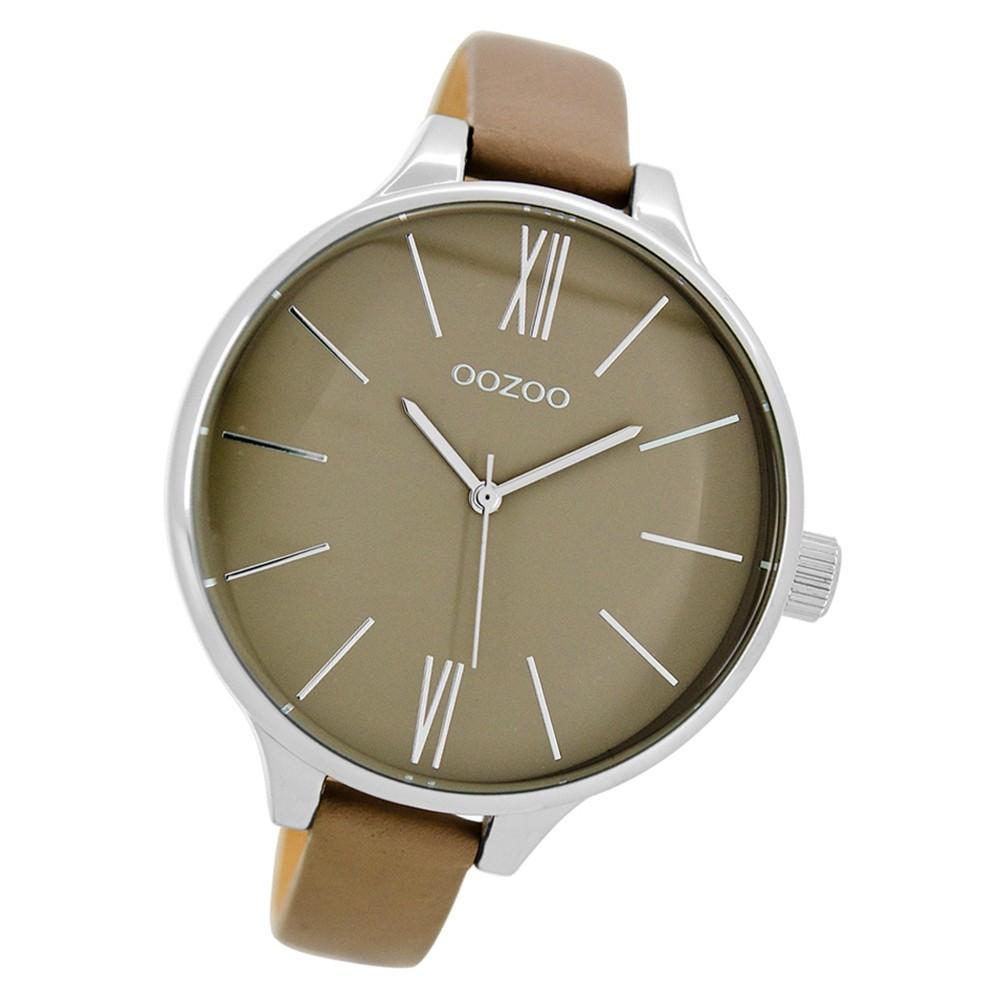 Oozoo Damen Armbanduhr Timepieces C9543 45mm Quarz Leder beige UOC9543