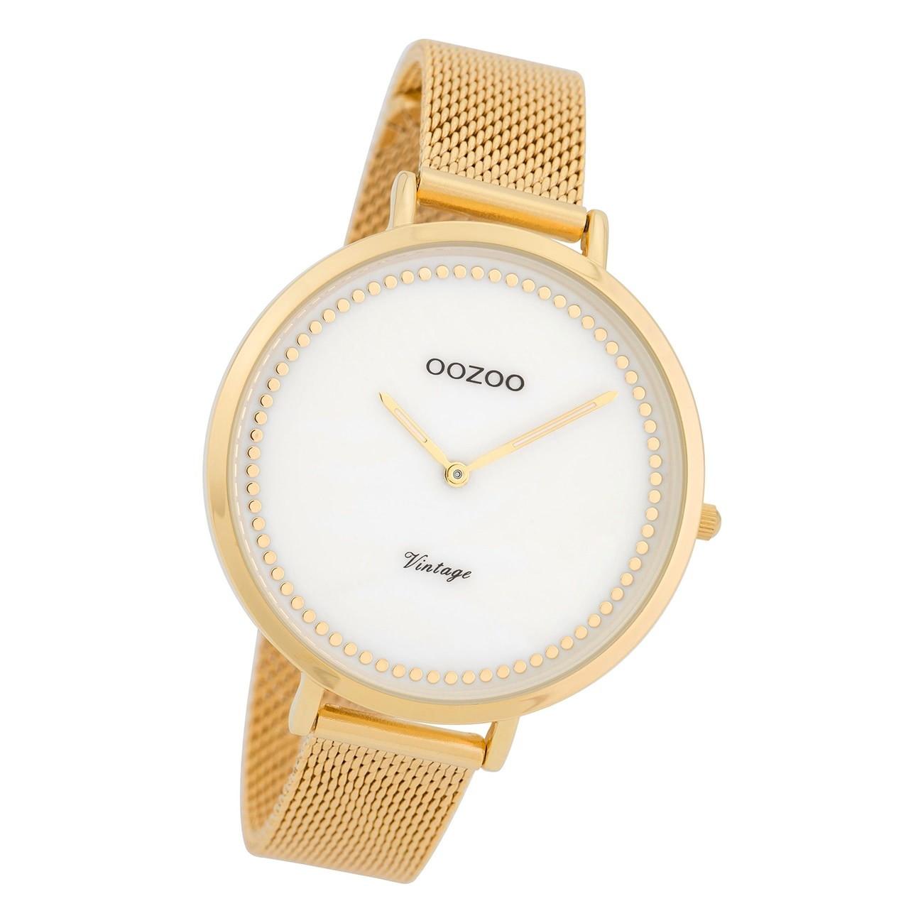 Oozoo Damen Armbanduhr Ultra Slim C9857 Analog Edelstahl gold UOC9857