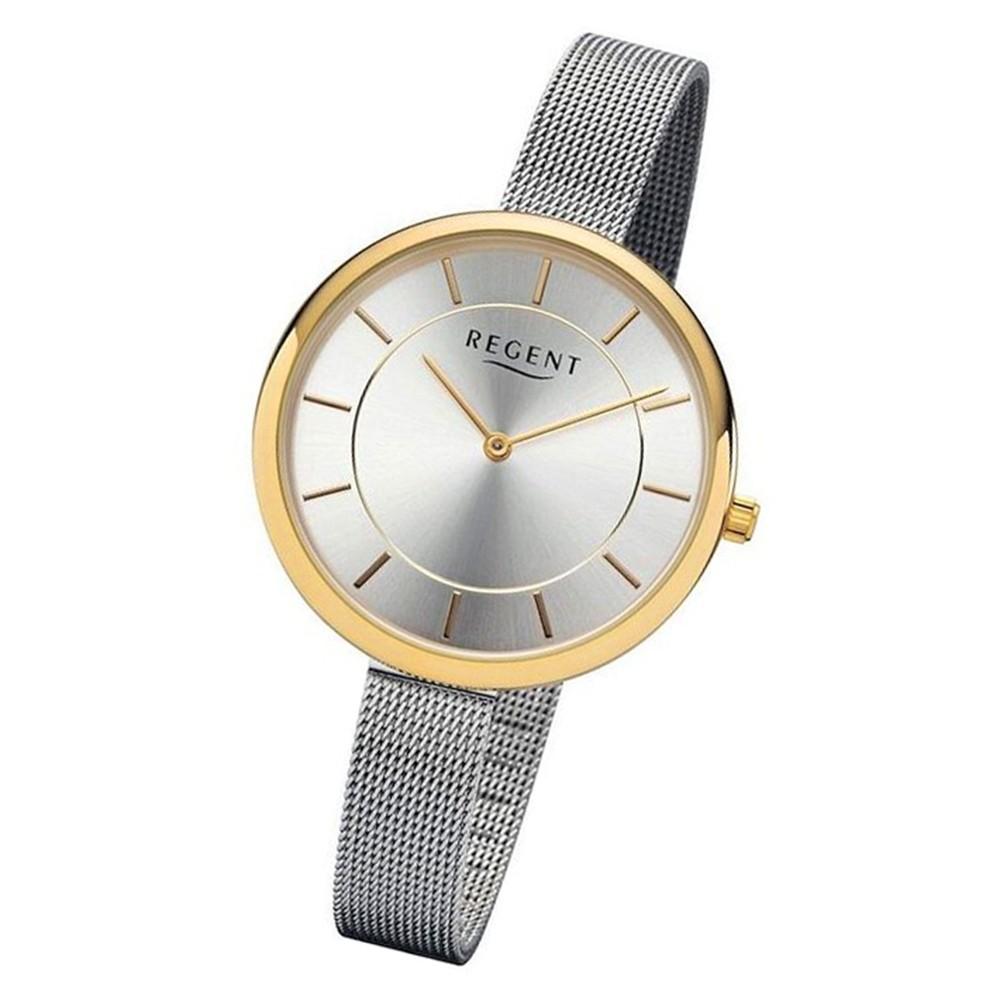 Regent Damen Armbanduhr Analog 2215467 Quarz-Uhr Metall silber UR2215467