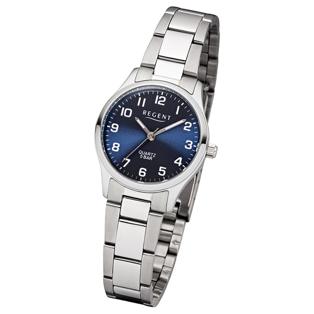 Regent Damen-Armbanduhr F-1325 Quarz-Uhr Edelstahl-Armband silber UR2253414