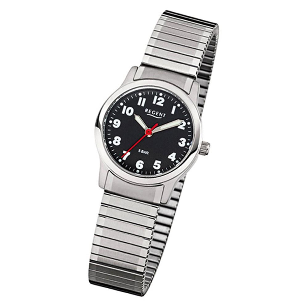 Regent Damen, Herren-Armbanduhr 32-F-1016 Quarz-Uhr Edelstahl-Armband silber URF1016