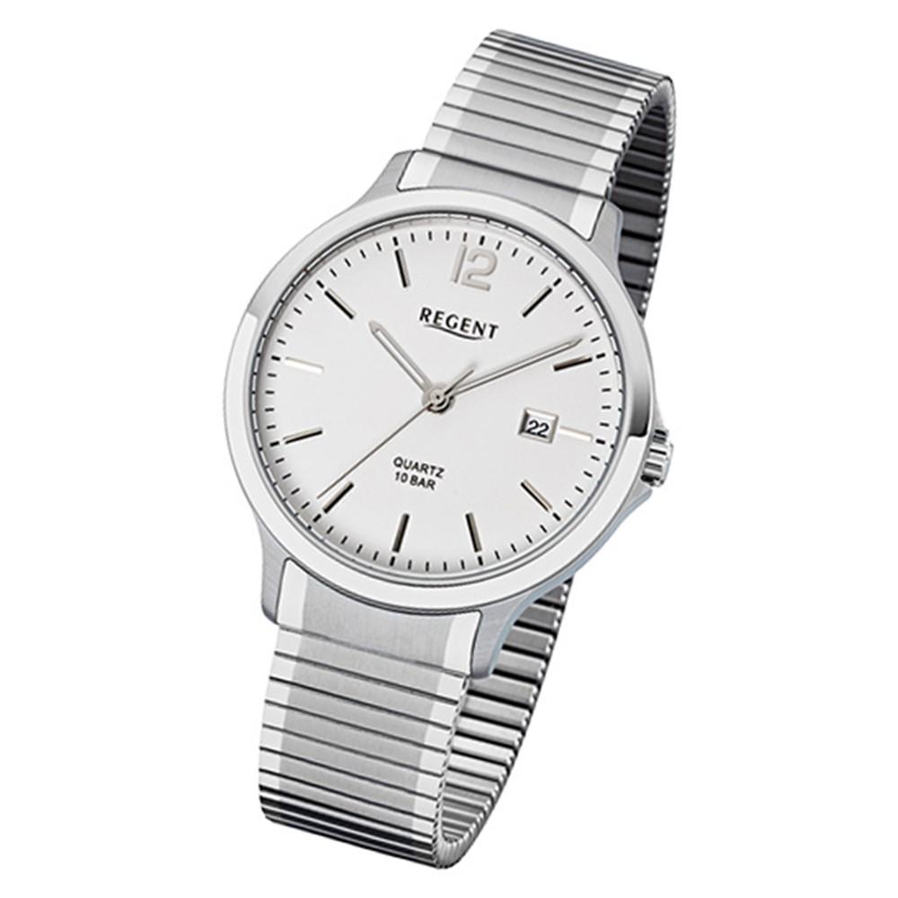 Regent Herren-Armbanduhr 32-F-1020 Edelstahl-Armband silber URF1020