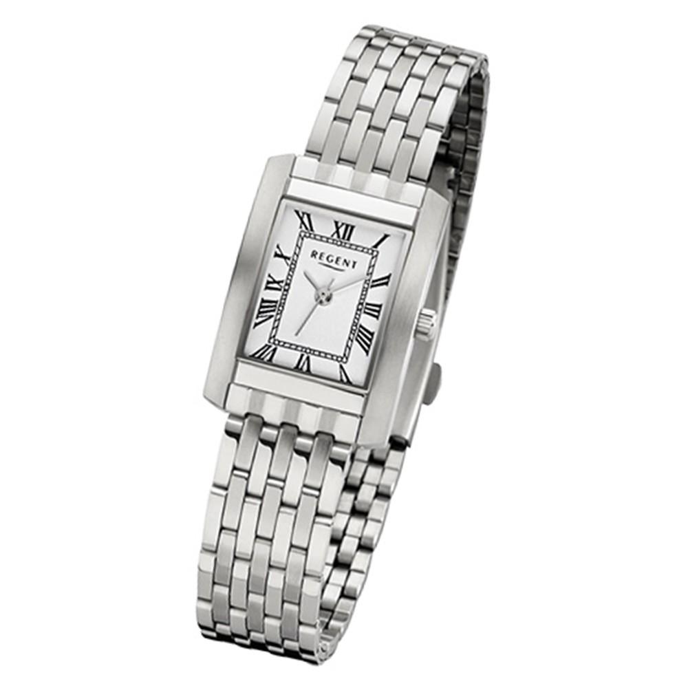 Regent Damen-Armbanduhr 32-F-1050 Quarz-Uhr Edelstahl-Armband silber URF1050