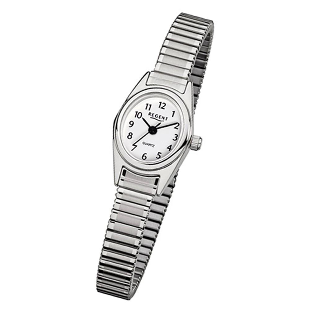 Regent Damen-Armbanduhr 32-F-262 Quarz-Uhr Edelstahl-Armband silber Uhr URF262