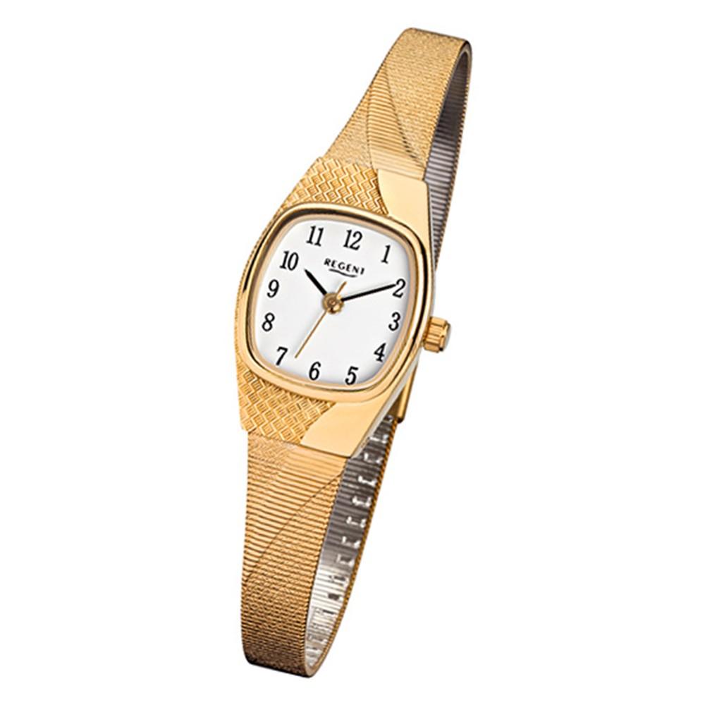 Regent Damen-Uhr - Metallarmband - Quarzwerk - Edelstahl gold URF624