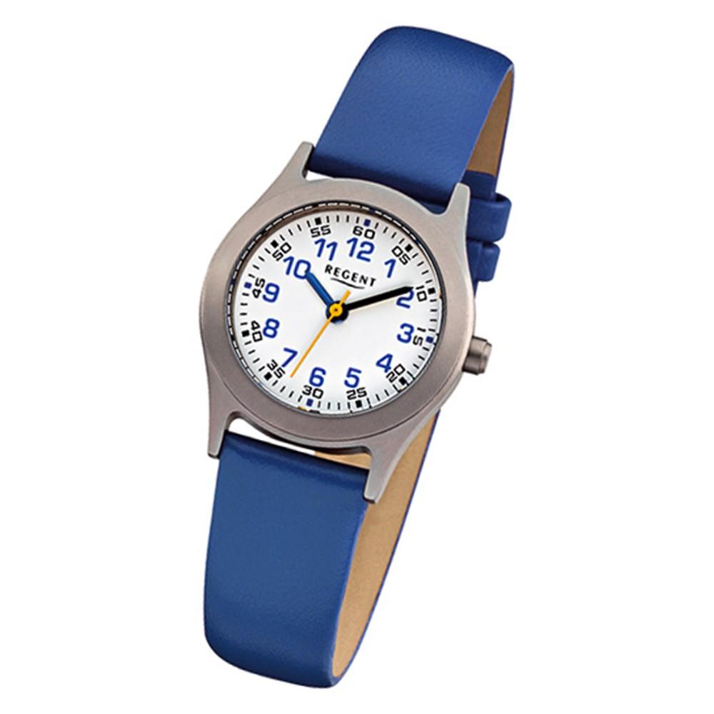 Regent Kinder-Armbanduhr - Kinderuhren - Quarz Leder blau URF947
