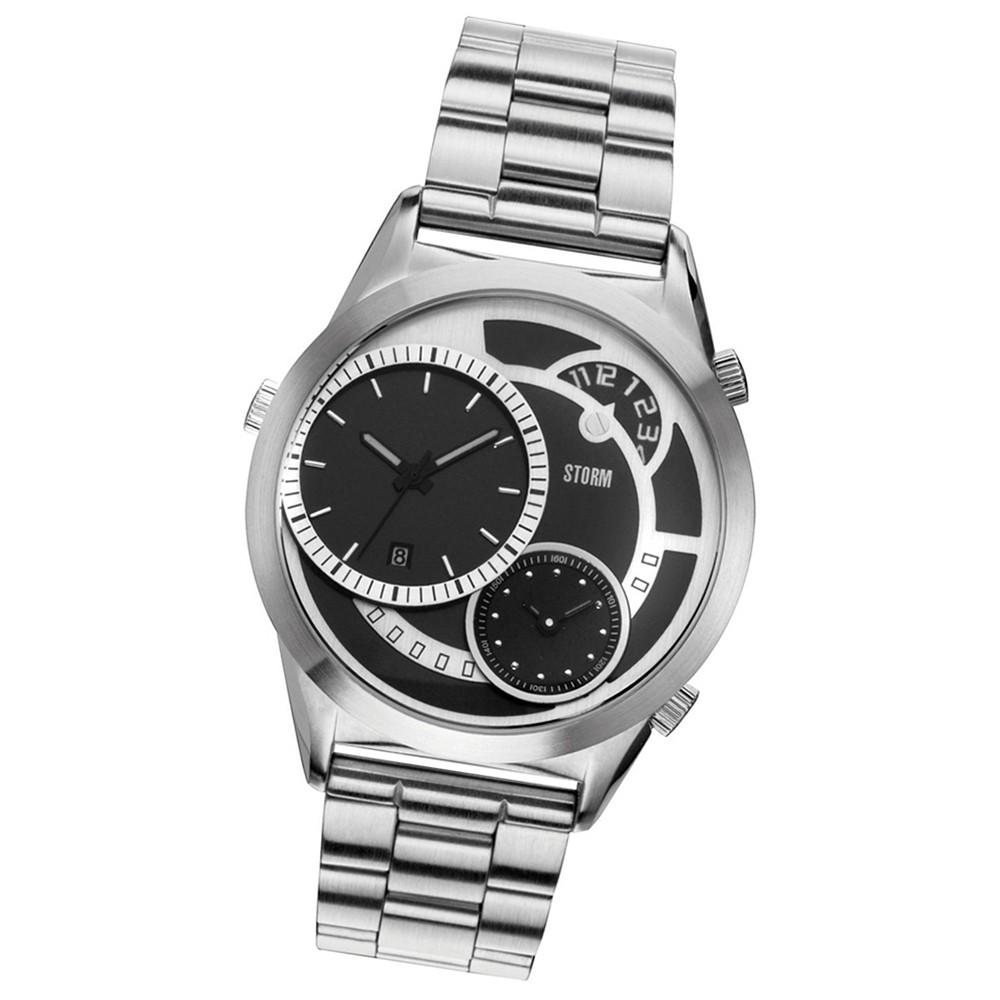 STORM Herrenuhr schwarz Edelstahl Armband Uhr SATURN BLACK UST4662/BK