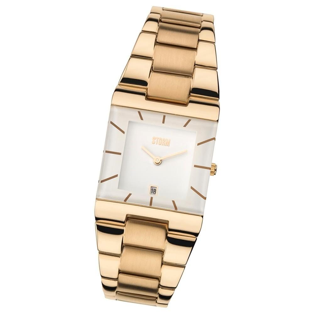 STORM Damenuhr ultraflach Edelstahl Armband Uhr Omari Rose Gold UST47194/RG