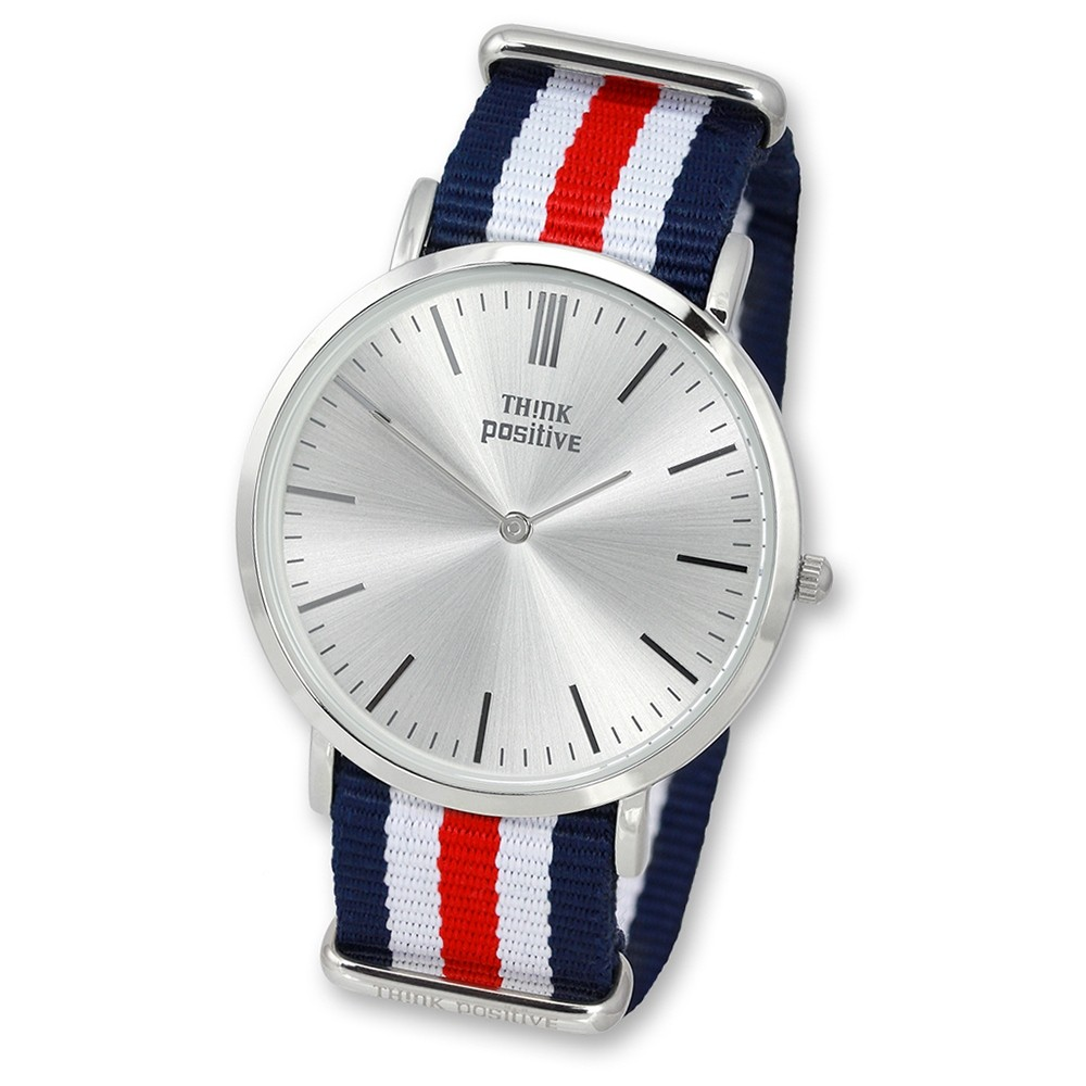 THINK positive Damen Herren Armbanduhr Casual Analog Quarz Textil/Nylon UTP3055F