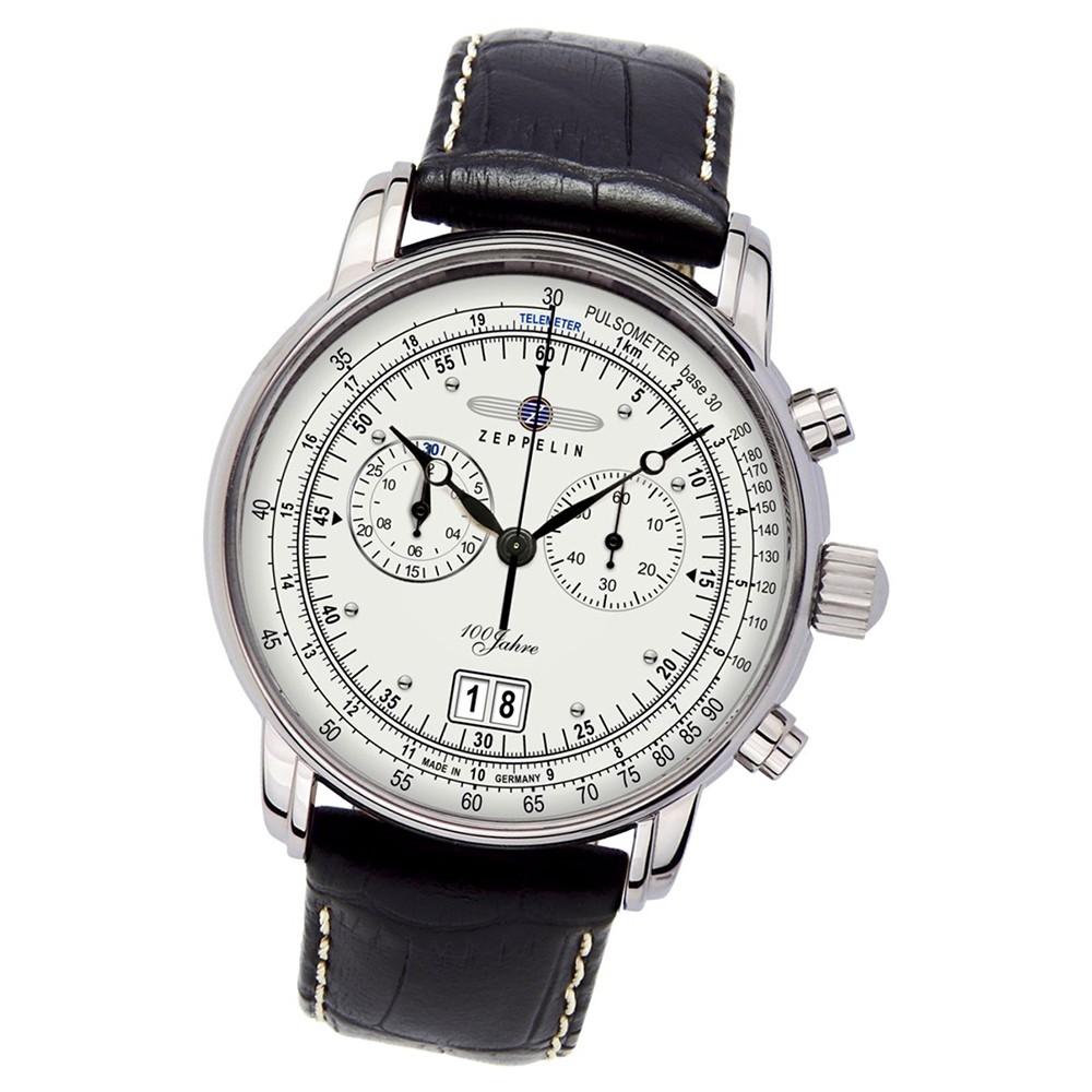 Zeppelin Herren-Armbanduhr - 100 Jahre Zeppelin - Quarz Leder schwarz UZ7690/1